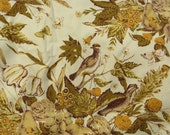 vintage upholstery fabric birds flowers butterflies over 6 yards 49 inches wide