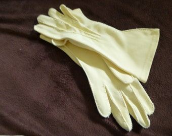 Gloves Vintage Yellow Pretty for Summer