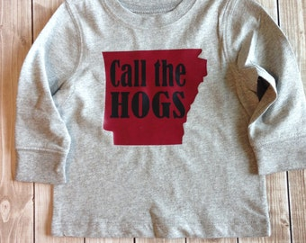 Call the Hogs Toddler Boys Arkansas Razorback Tee