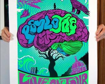 Psylo Joe Purple Screen Print
