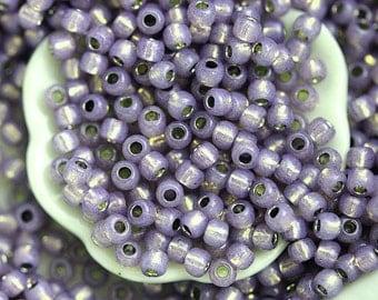 Seed beads, Toho beads, size 11/0, Permanent Finish - Silver-Lined Milky Tanzanite, PF2124 - 10g - S443