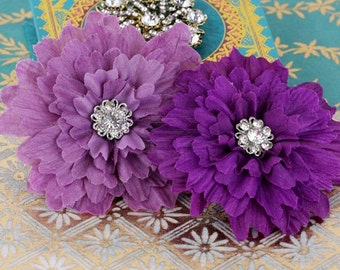 Prima Marketing Poppies & Peonies Collection Flower Embellishements In Purple
