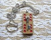 Vintage Domino Necklace Double 6