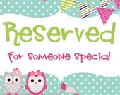 Reserved Listing - Shira Gold