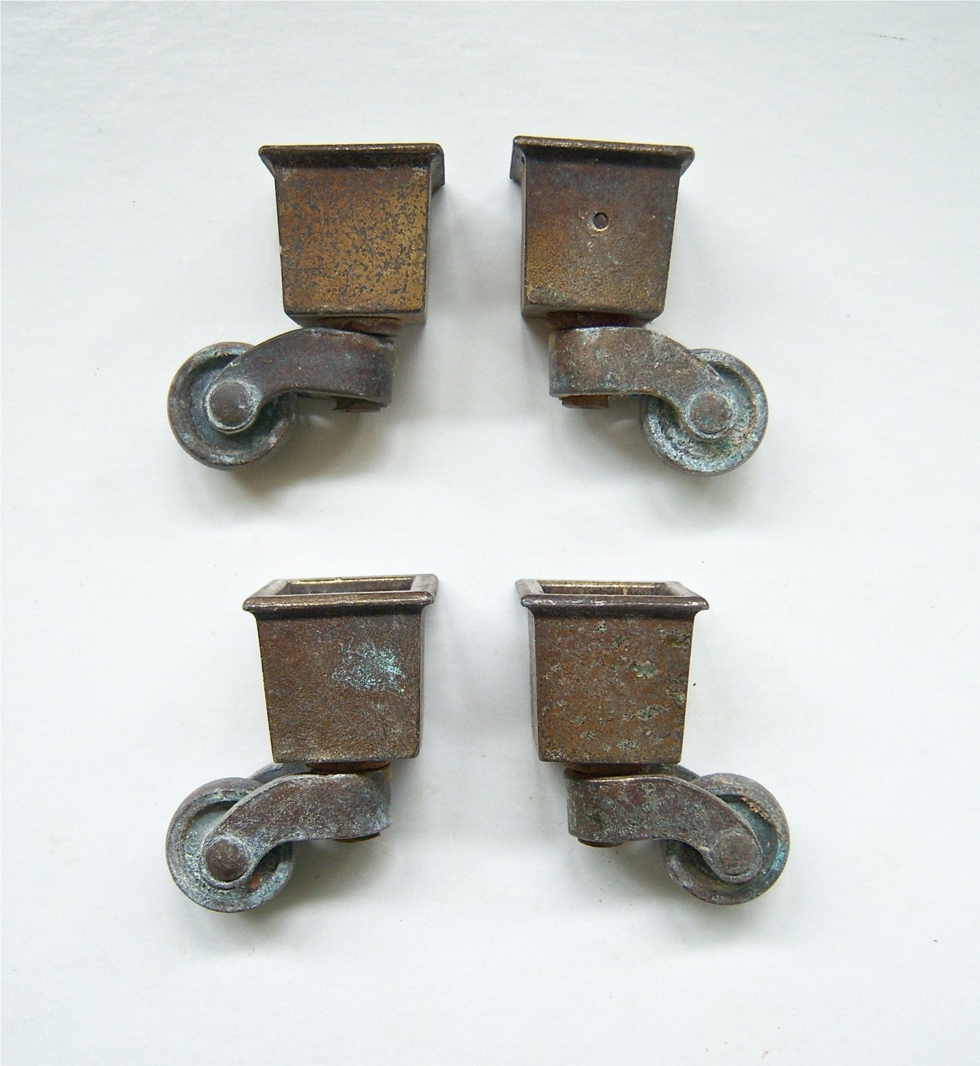 Brass Metal Caster Furniture Wheel Matched Set Of 4 With