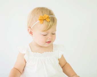 BOW COLLECTION: Your Choice Color Felt Bow (clip or headband)
