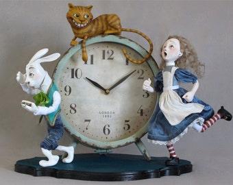I'm Late! Alice In Wonderland Clock
