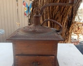 Antique Imperial Arcade Mfg. Co. Coffee Mill  --  Imperial Arcade Coffee Grinder  --   1800's Large Coffee Grinder  __  Large Coffee Mill