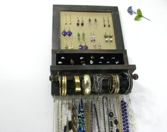 Jewelry storage, earring holder, bangle holder, necklace holder