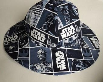 Star Wars Baby Sun Hat , Summer Hat, Newborn Sunhat, Toddler, Boy, Girl Floppy Hat, Cotton Hat, Beach Hat, Geek Baby Gift, Made To Order