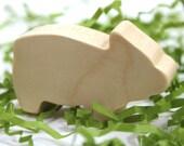 Wooden Farm Animal Toy Pig