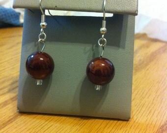 Brown acrylic earrings