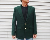 Green Jacket. Men's Blazer Sport Coat Lucky Masters Golf Jacket Country Club. Dark Forest Green Size 42 R