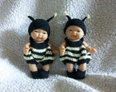 Bumble Bee Rumper For Berenguer 5 Inch Doll Crochet