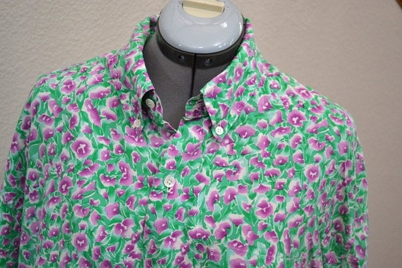 Retro jim thompson 60s thai silk mens vintage shirt size l xl for Thai silk jim thompson