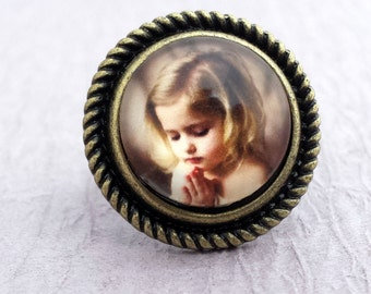 Custom Photo Ring, Picture Ring, Photo Jewelry, Grandma Ring, Mothers Day, Mom Ring, Silver Antique Bronze, Personalized Mom Ring