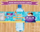 Personalized Home Movie Water Labels / DreamWorks Movie Water Labels /(Digital File Only)