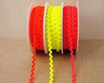 Neon Ric Rac - 3m, choose your colour