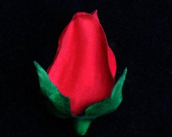 Red Rosebud Pin