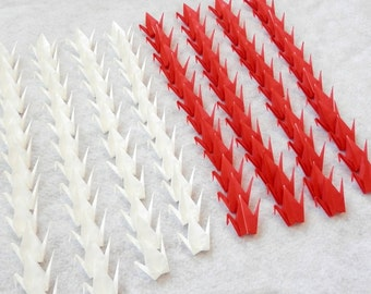 Origami Cranes - 100 Small Red and White Origami Paper  Cranes