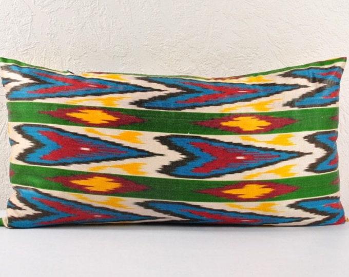Ikat Pillow, Hand Woven Ikat Pillow Cover  lip103, Ikat throw pillows, Designer pillows, Decorative pillows, Accent pillows