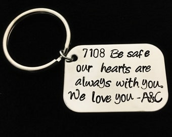 Be Safe. -police officer- military-hand stamped custom challenge coin- law enforcement- graduation gift- keepsake - I need you here with me