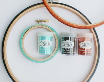 Copper or Black or Icicle glitter for your DIY project / Extra fine glitter / 13-15 gram jar for smaller projects