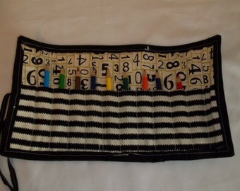 Crayon/Pencil Roll - Numbers