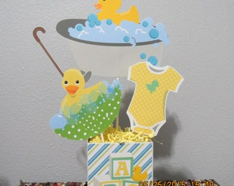 Rubber Duck Baby Shower Centerpiece