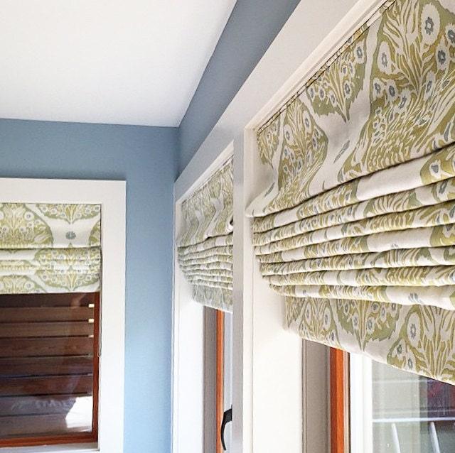 Custom Flat Roman Shade Window Treatment Girls Bedroom