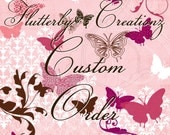 Custom Order for Duffy - 4 multi fabric fascinator flower pins