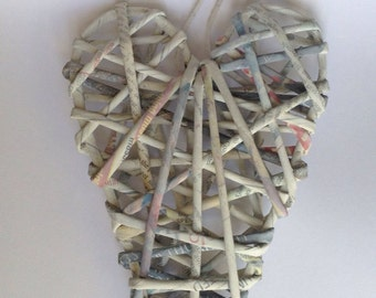 Hanging Heart Eco Wicker-Paper Wicker Heart-Hanging Heart House-decor