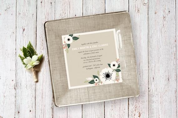 Wedding invitation keepsake personalized wedding gifts like this item stopboris Choice Image