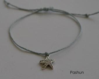 Seashell Jewelry ... Wish Bracelet ... Adjustable ... Starfish  (1317)