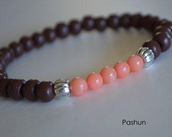 Yoga Stretch Bracelets ... Coral (1377)
