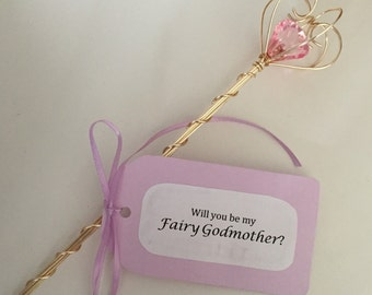 Fairy wand with a pink Jewel