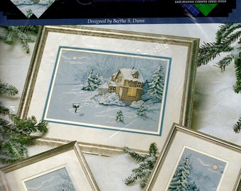 "The ""WINTER WONDERLAND"" Cross Stitch Kit  True Colors Great Big Graphs NIp"