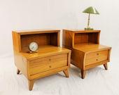 Mid Century Modern Stanley nightstands table set (2)