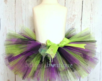 Halloween Tutu- Black, Purple, and Green- Frankenstein Tutu