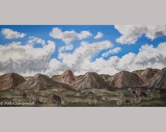 Hills & Clouds - original painting