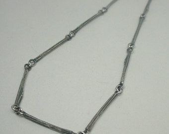 Handmade Sterling Silver 'Willow Twig' Chain, solid 925, 18''-36''