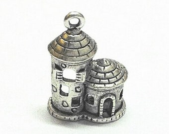 10pcs Antique Silver Castle Charm Pendant 14x20mm AC102-3