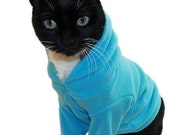 Microfleece Cat Hoodie Several Colors available pet clothing cat clothing pet clothes Cat Shirt Cat Clothes