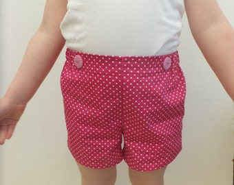 Girl's Shorts, Kid's Play Shorts, Child's Summer Shorts, Girl's Clothing, Shorts, Bottoms, Girl's Pants, Kids Clothes, Children's Clothing