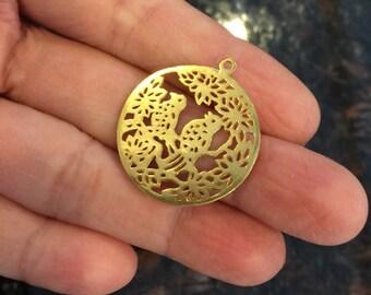 Gold vermeil charm (4 charms )