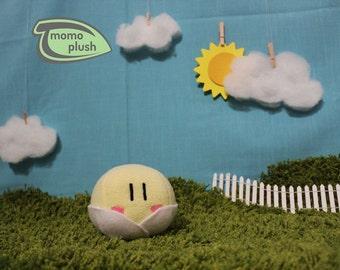 Small Clannad Blushing Baby Dango Plushie - Stuffed Plush - Dango Daikazoku Cosplay Handmade Fiber or Mix stuffing