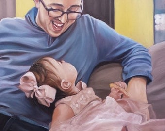 Custom Family Portrait - CUSTOM PAINTING - Oil Painted Portrait -  Custom Gift