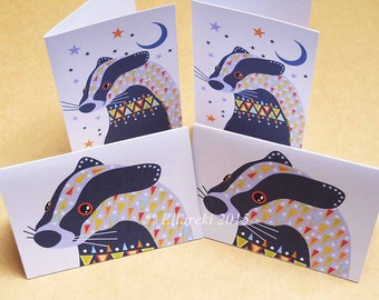 Badgers folded gift tags pack of 4 peel-off tags