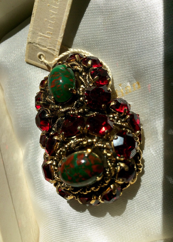 Bijoux Vintage Christian Dior : Vintage christian dior bijoux c pin brooch in