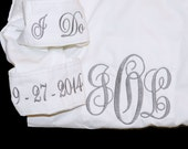 Button Down Shirt, Wedding Day Shirt, Bride Shirt, Over Size Shirt, Monogrammed Button Down Bridesmaid Shirt, Getting Ready Shirt